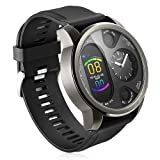 Smart Watch,B-Active Fitness Tracker,Q Watch Charger,IP68 Smart Watch,Heart Rate Monitor,26mm TPU Band,Dual time Zone Black Watch (Color: Black)