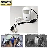 CCTV Camera Pros HD Spy Camera, Hidden 1080p AHD CCTV PIR Camera, Infrared, Audio Mic