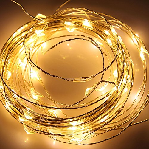 Ronshin 10M 33Ft 100 Leds 12V Led Bendable Copper String Lights Warm White Lamp Starry Fairy String Lights For Xmas Tree Wedding Party Decoration Energy Saving Hot Diy Ia00277