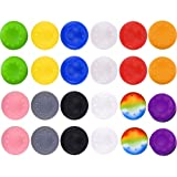 24Pcs Silicone Thumb Grips Caps Cover for PS3, PS4, XBox 360, XBox One Controllers