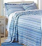 Full Seersucker Bedspread, in Blue