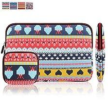 buy Kamor Bohemian Style Canvas Fabric Sleeve For Macbook Air, Pro - 13.3 Inch - Heart