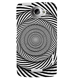 PRINTSWAG ILLUSION PATTERN Designer Back Cover Case for HTC ONE X