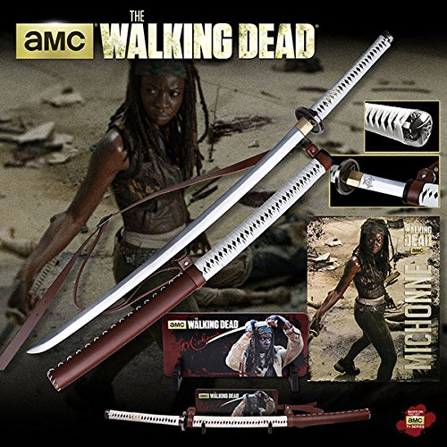 Deluxe Edition the Walking Dead Michonne Sword Katana with Wall Mount (Dead Center Carbon compare prices)