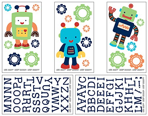 NoJo Baby Bots Wall Decals - 1