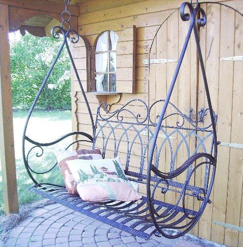 schaukel h ngebank bank gondel h ngesessel aus metall. Black Bedroom Furniture Sets. Home Design Ideas