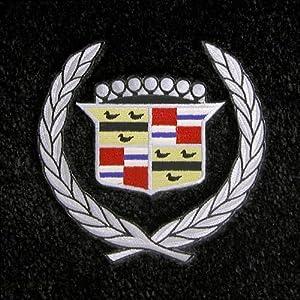 Logo 1974-1976 Cadillac Calais Luxury 4 Pc Car Mat Set Luxury Cruiser Mat Color: Shale Mat Logo: Cadillac Crest Applique - Silver