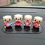 uzoho Lovely Pig Love Car Decoration Display Accessory Ornaments, Car Home Décor, Car Interior Decorations Gift