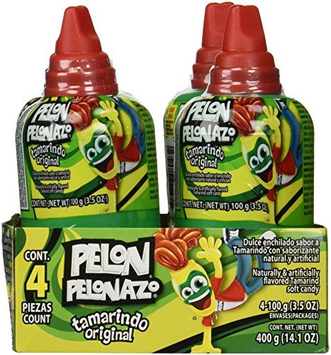 Pelon Pelonazo Tamrind Flavor Jumbo Size Mexican Candy, 4-count, 3.5oz