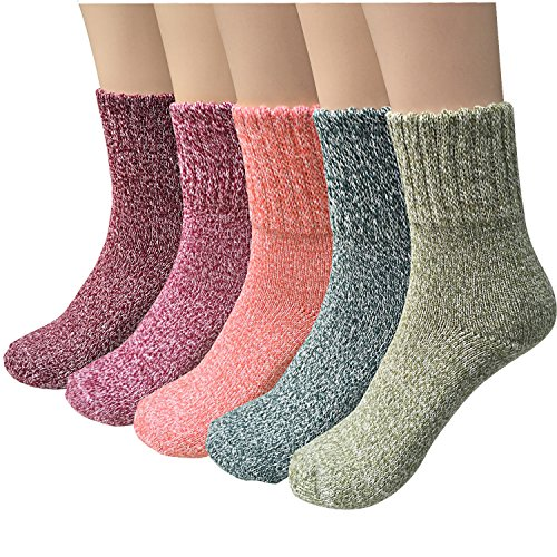 pack-of-5-womens-thick-knit-warm-casual-wool-crew-winter-socks