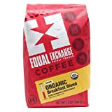 Equal Exchange Organic Ground Coffee, Breakfast Blend, 12-Ounce Bag (Color: Breakfast Blend, Tamaño: 12 ounce (Pack of 1))