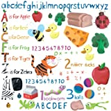 616GYET8pZL. SL160 RoomMates Repositionable Childrens Wall Stickers, Education Station