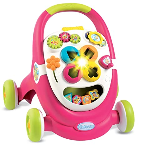 Smoby Toys, 110304, Cotoons Trott, Trotteur pour Enfant, MultiFonction, Sons et Lumières, Rose