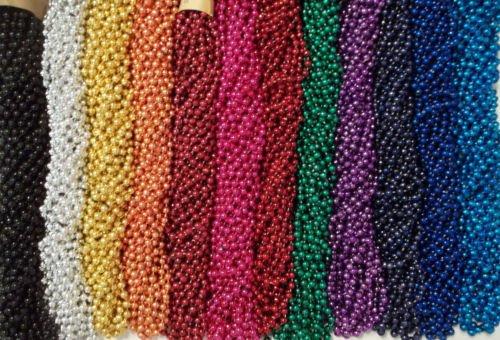 [72 Choice Mardi Gras Beads Birthday Wedding Carnival Party Favor Necklaces 6 Doz] (Jumbo Mardi Gras Beads)