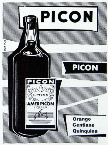 1956 Ad Picon Gentiane Quiquina Liqor Alcohol Drink Bottle French Fifties Amer - Original Print Ad front-1032358