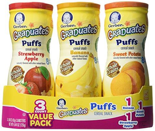 Gerber Graduates Puffs - Variety Pack - 1.48 oz - 3 pk