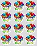 12 30th Birthday rice paper fairy cup cake 40mm toppers decoration