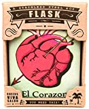 The Life Imagined El Corazon Stainless Steel Flask, 6-Ounce
