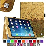 iPad mini Case - Fintie iPad mini 3 / iPad mini 2 / iPad mini Folio Slim Fit Vegan Leather Case with Smart Cover Auto Sleep / Wake Feature, Map Brown