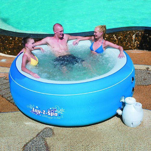 Bestway 54100 family piscina gonfiabile ovale 206 x 71 cm for Amazon piscinas