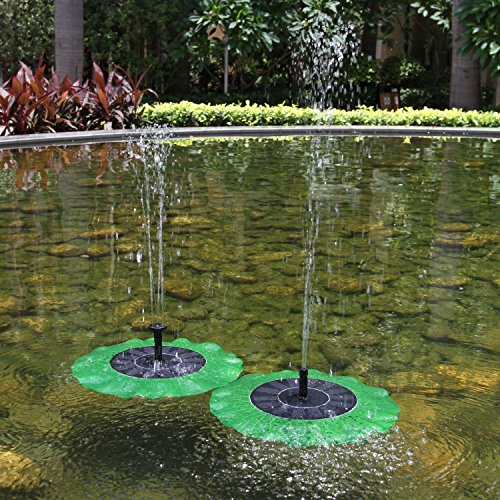 Ebotrade new version solar power brushless lotus leaf for Pond fountains for sale