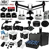 DJl lnspire 1 Pro Quadcopter Drone with eDigitalUSA Ultimate Flight Kit: Includes 2 Remotes, Go Professional Hard Case, 2x TB47B & 2x TB48B Batteries with Charging Hub, 4 Piece Filter Kit and more…