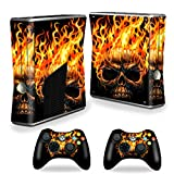 MightySkins Skin For X-Box 360 Xbox 360 S console - Hot Head | Protective, Durable, and Unique Vinyl Decal wrap cover | Easy To Apply, Remove, and Change Styles | Made in the USA (Color: Hot Head, Tamaño: Xbox 360 S console)