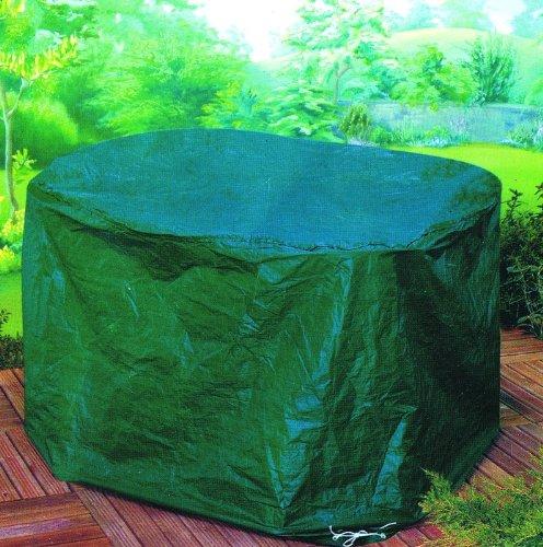 Gardman round patio set table cover waterproof garden furniture garden green