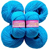 Vardhman Acrylic Knitting Wool, Pack Of 6 (Azure) (Pack Of 8 )