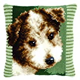 Vervaco Cross Stitch Cushion Terrier Puppy