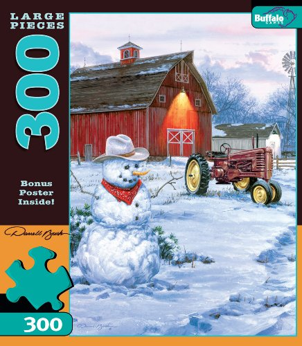 Country Snowman 300 Pc Jigsaw Puzzle