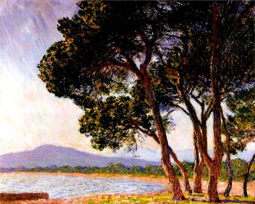 Bright Canvas Collection.Claude Monet Beach In Juan Les Pins Jpg Half Hd