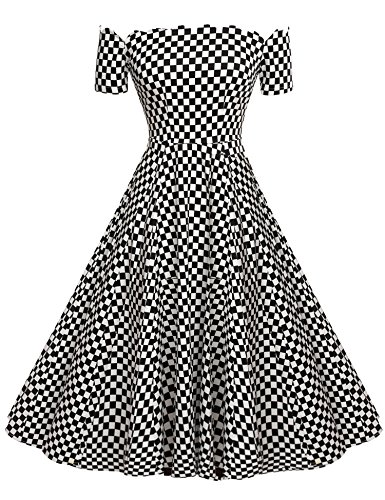 ACEVOG-Womens-Wave-Point-1950s-Style-Vintage-Swing-Party-Off-Shoulder-Dress
