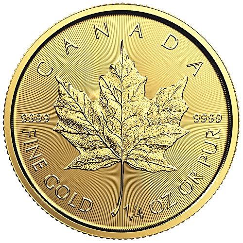 2016 Gold Canadian Maple Leaf (1/4 oz.)