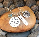 I Love An Army Soldier Necklace | Army Wife Necklace | Army Wife Jewelry | Army Girlfriend Necklace | Army Mom Necklace | Army Jewelry Gift