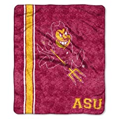Buy NCAA Arizona State Sun Devils 50-Inch-by-60-Inch Sherpa on Sherpa Throw Blanket Jersey Design by Northwest