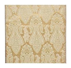 Raj Men's Synthetic Kurta Fabric (Silver)