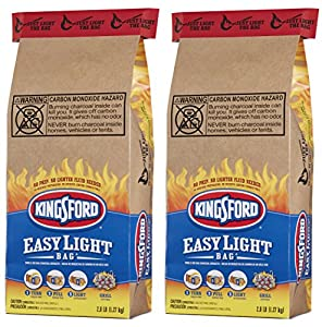 Kingsford Charcoal Briquets, Easy Light Bag (Single-Use bag), Two 2.8 lb Bags by Kingsford