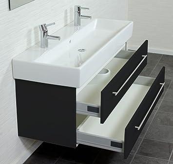 villeroy und boch memento 120cm doppel schwarz seidenglanz. Black Bedroom Furniture Sets. Home Design Ideas