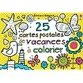 25 cartes postales de vacances � colorier