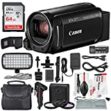 Canon Vixia HF R800 HD Camcorder (Black) Deluxe Bundle W/ Camcorder Case, 64 GB SD Card, 3 Pc. Filter Kit, LED Light Kit, and Xpix Cleaning Accessories