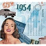 1954 Geburtstag Geschenken - 1954 Chart Hits CD und 1954 Geburtstagskarte