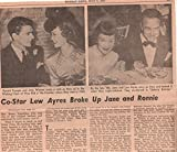Jane Wyman Lew Ayres original clipping magazine photo 1pg 8x10 #R1342