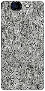 Snoogg Seamless Hand Drawn Waves Texture Designer Protective Back Case Cover For Micromax Canvas Knight A350