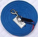 Softlonge Longierleine Leine Longe Schleppleine 8 Meter Blau Rot super leicht und stabil!