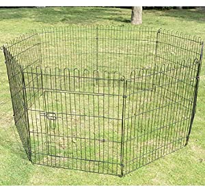 "Pawhut 36"" 8 Panel Light Duty Pet Dog Portable Exercise Playpen"