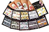 Nail Art Water Slide Tattoo Decals Full Cover Flower & Animal Patterns, 10 Pack /Cxvi/