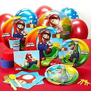 Party Destination 191198 Super Mario Bros. Standard Party Pack by Party Destination