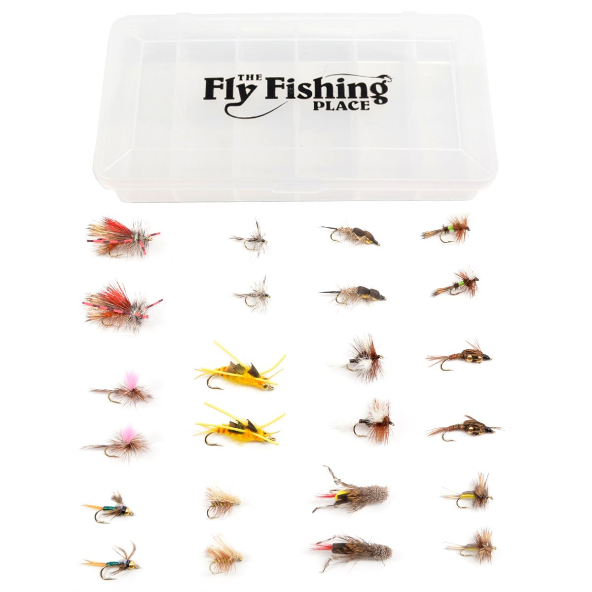 Western Trout Fly Assortment - Essential Dry and Nymph Fly Fishing Flies Collection - 2 Dozen Trout Flies with Fly Box 10pcs beadhead pm caddis 14 nymphs dry fly fishing trout flies page 5