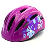 M Merkapa Kids Bike Helmet Adjustable Bicycle Helmets for Toddler and Youth (Hot Pink, M) (Color: Hot Pink, Tamaño: M: 52 - 56cm(20.5 - 22 inches))